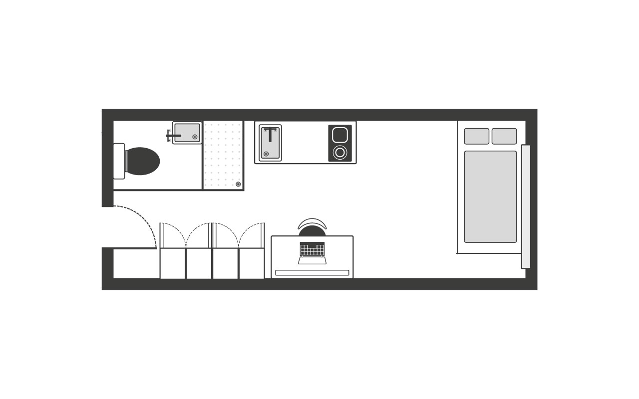 Kentish Town Premium Studio Floor Plan