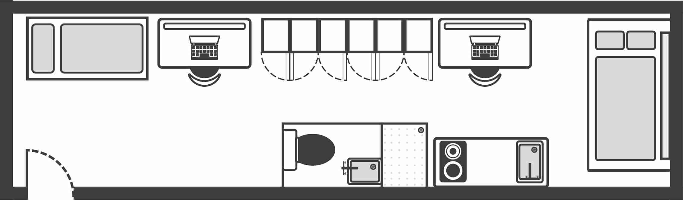 Kentish Town Suite Floor Plan 2