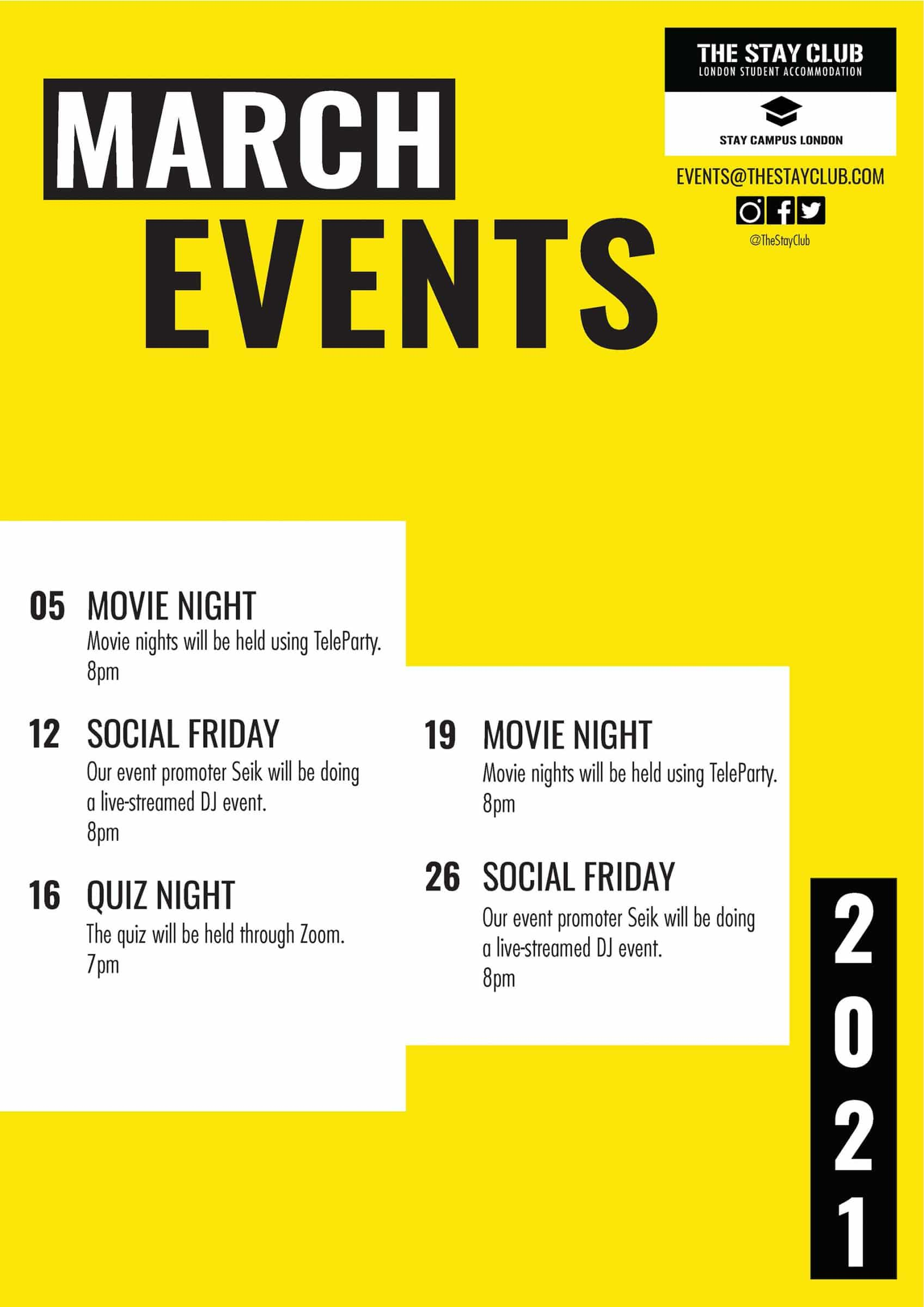 The Stay Club - Events